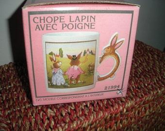 Vintage Rabbit Handle Mug
