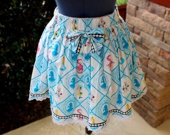 Plus Size Lolita Alice in Wonderland Skirt (made to order)