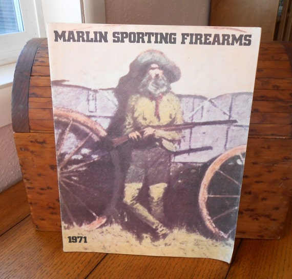 Marlin Firearms Catalog Vintage 1971 With Western Artwork and Gun Info