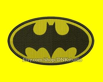 Batman Symbol Embroidery Design - 5 Sizes - INSTANT DOWNLOAD