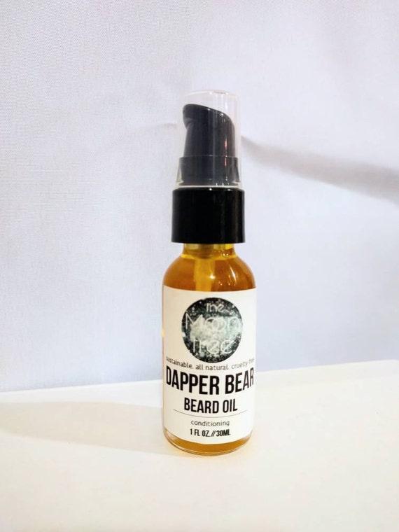 DAPPER BEAR // Handmade // All Natural // Vegan // Cedarwood // Bay // Grapefruit // Beard Oil