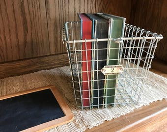 Wire Locker Basket - Kaspar Wire Works - Shiner, Texas - Number Two - #2 - Metal Storage Industrial Container - Laundry Room - Metal Locker