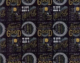 Bee Inspired Yardage by Deb Strain for Moda Fabrics. 19791 13 Ebony