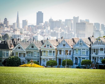 The Painted Ladies Photo Fine Art Photography Victorian Houses Landmark San Francisco California Classic Picture Urban Alamo Square