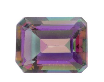 Mystic Northern Lights Topaz Octagon Cut Loose Gemstone 1A Quality 8x6mm TGW 1.65 cts.