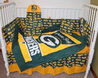 New Crib Bedding m/w Green Bay Packers Fabric