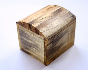 Wooden trinket box / jewellery box handmade from recycled Australian Frangipani wood by Joe Costatino