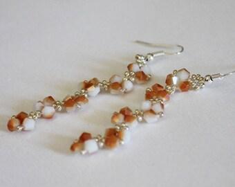 Earrings cascade bicones