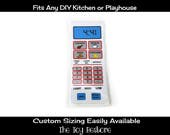 New Replacement Decals Stickers for Play Kitchens: Microwave decal only White and Pink