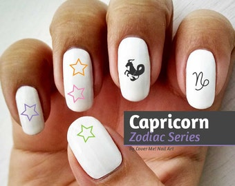 Capricorn Zodiac - Water Slide Nail Decals