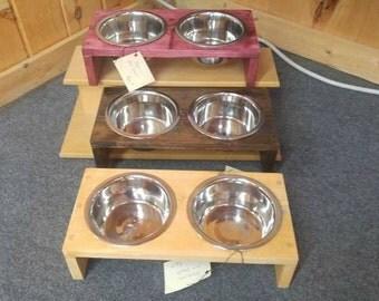 Handmade Cat/Dog Bowl Holder-Small