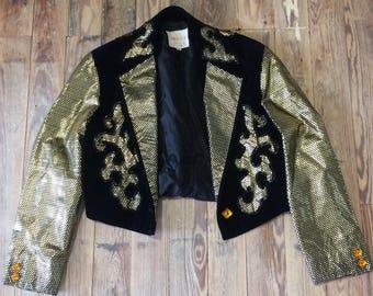 Velvet and sequin blazer