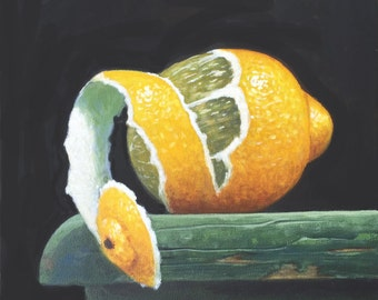 Lemon Painting, Lemons Painting, Lemons Art, Original Lemons Painting, Fruit Painting, Painting of Lemons, Fruit Painting,