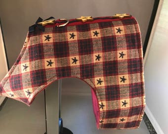 Harness for Dogs, Vintage Patriot Plaid