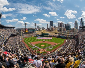 The National Anthem in played at PNC Park during the Home Opener of 2016 for the Pittsburgh Pirates - Various Prints