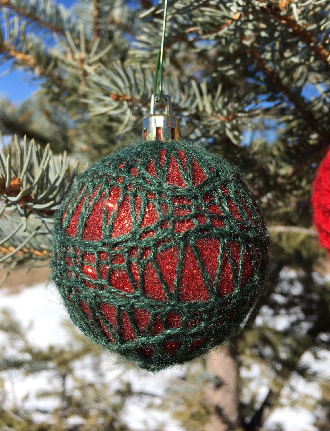 5 Christmas Ornament Covers - loom knit patterns