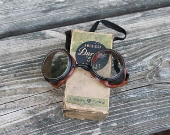 "American Duralite ""50"" Goggles by American Optical with box."