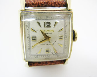 a229 Nice Original Vintage Hallmark Self Winding Watch in 10k Gold Filled