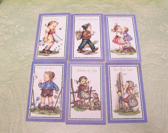 Seven unused vintage Reproducta children greeting cards Please Get Well Birthday Get Well Soon Thinking of You