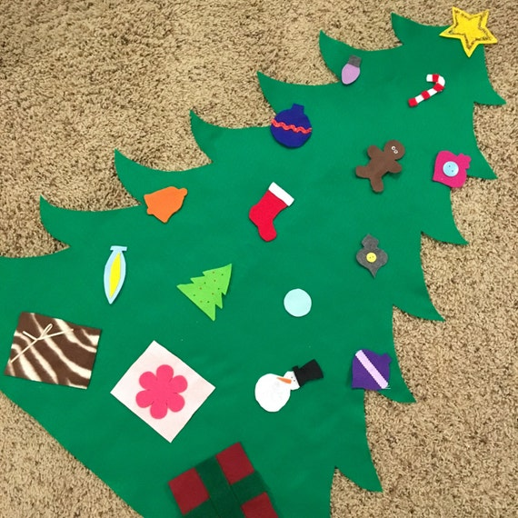 felt toddler christmas tree fun toy holiday game kids baby. Black Bedroom Furniture Sets. Home Design Ideas