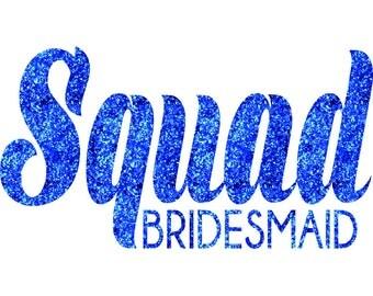 SQUAD Bridesmaid Iron On Decal