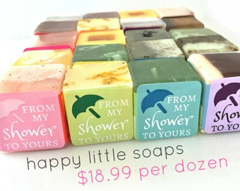"Baby Shower Favors - One DOZEN soaps - ""From My Shower to Yours"" - Fun, Unique & Cute Party Favors for boy or girl"