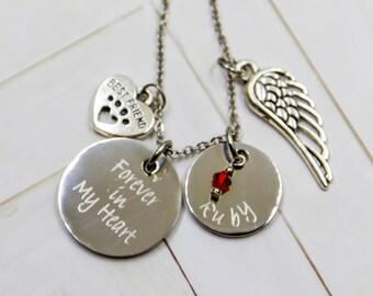 Personalized Pet Memorial Necklace,Pet Memorial Jewelry,Dog Memorial,Cat Memorial, Pet Loss Gift, Dog Remembrance,Dog Memorial,Cat Memorial