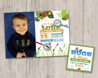 We're buggin' out Birthday Invitations | Bug Party Invitations | Digital File