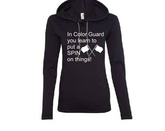 Color Guard - Learn to Spin Hooded Tee - includes personalization