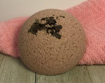 Chocolate Half Bath Bomb, Bath Fizzie, One Bath Bomb, Brown Chocolate