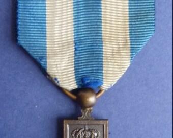 Original 1918-18 Italian Medal. The War Merit Cross. Fabulous Condition.