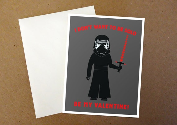 I don't want to be Solo Valentine's Card
