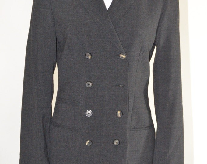 Vintage Estate Gucci Charcoal Grey Blazer Made in Italy