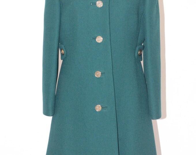 Vintage Estate Green Coat Made in USA ILGWU