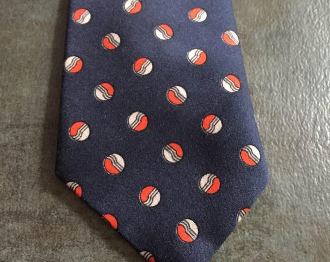 Vintage Estate Lewis Thos Blue White Red Orange Tie