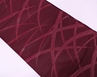 japanese vintage purple fukuro obi woven blades of grass