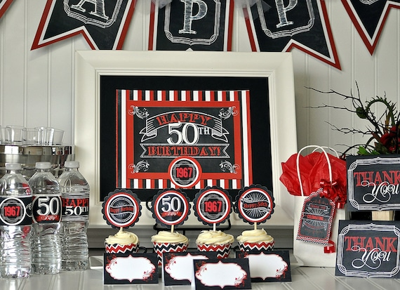 50th birthday party package 50th birthday decorations 50th