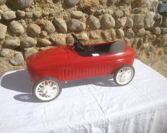 COLLECTIBLE! Restored 1960's French Childrens Pedal Car, Ferrari Morellet Guerineau Model. Beautiful Red.. Awesome Item!!