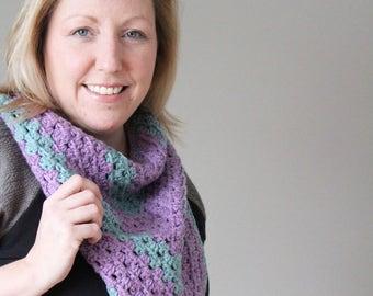 Lightweight Bandana Scarf, Spring Fashion - Ready to Ship, One of a Kind - Pure Merino Wool