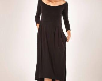 Women Dress/ Winter Dress/ Little Black Dress/ Midi Dress/Women's Dress/ Long sleeves Dress/ Maxi Dress