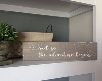 Adventure Sign, Wood Sign