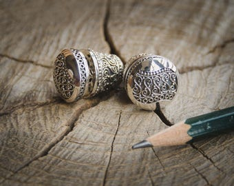 Indonesian Batik Ornamentation Silver Earrings, Balinese Subeng Sterling Silver, Exclusive Design