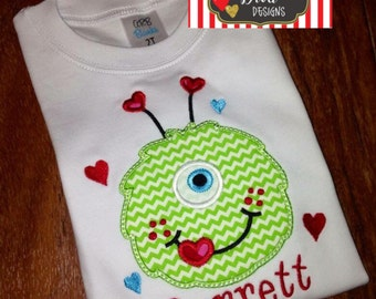 Boy's Love Monster Valentine's Shirt