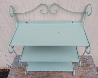 RESERVED FOR IVETTE Large Vintage Metal Wall Shelf!