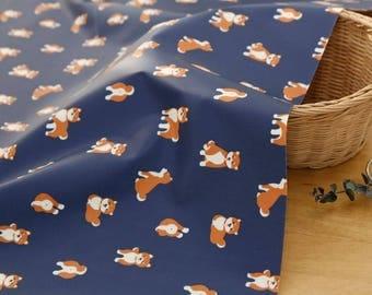 Laminated Cute Dog Pattern Cotton Fabric by Yard