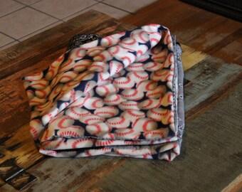 Bandana Quilt- Black and grey-baseball/ softball Handmade Blanket- Throw