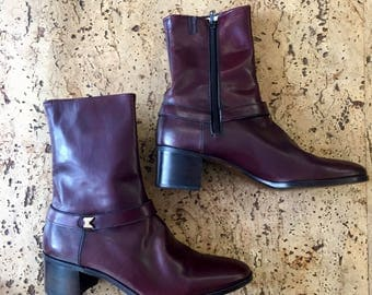 New burgundy boots Esquire Vintage 1970's