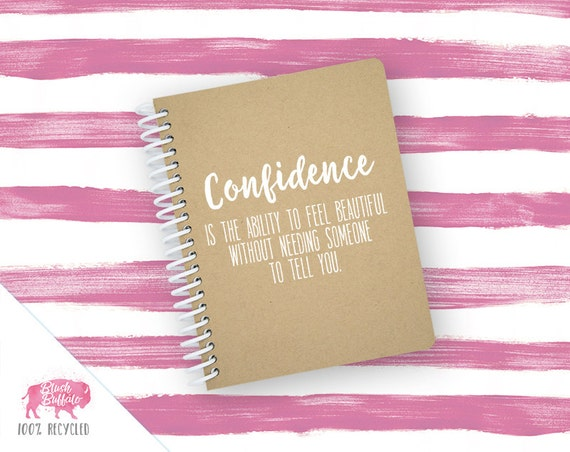 Spiral Notebook | Spiral Journal | Notepad | 100% Recycled | Confidence | BB080SM
