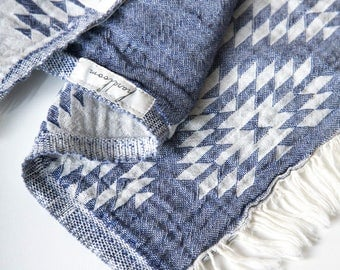 Turkish Towel Tribe Collection | Navy Beach Towel Tribel Design Hammam Towel Yoga Throw  Cotton Towel Fouta Spa Towel Sarong Pool Towel