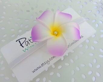 Hawaiian Flower/ Purple Hawaiian Headband/Baby stretch headband/ Infant headband/Child headband